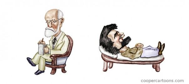 Фрейд и пациент. Источник: coopercartoons.com